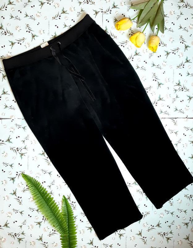 🎁1+1=3 черные велюровые прямые штаны с высокой посадкой bm cas...