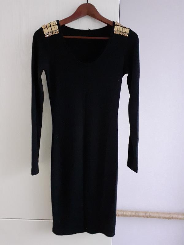 Чёрное платье, трикотажное