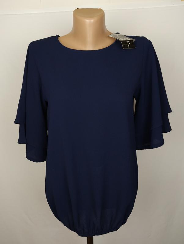 Блуза новая стильная синяя quiz uk 8/36/xs