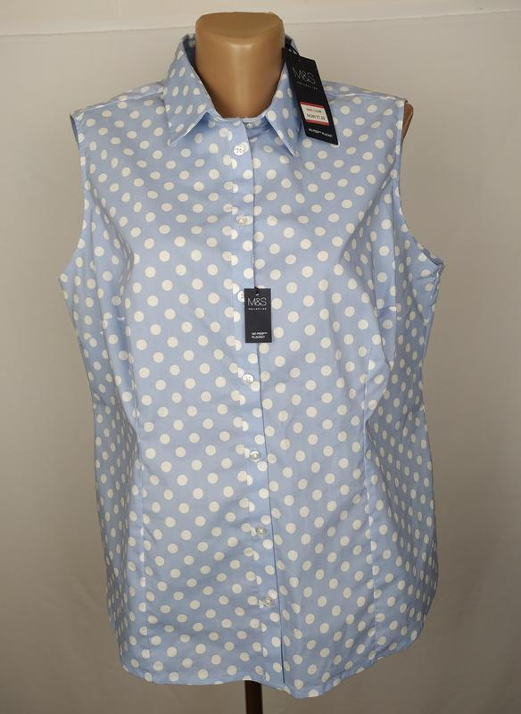 Блуза стильная новая в горохи большой размер marks&spencer uk ...