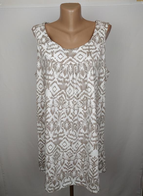Блуза новая красивая в орнамент хлопок большой размер bonmarch...