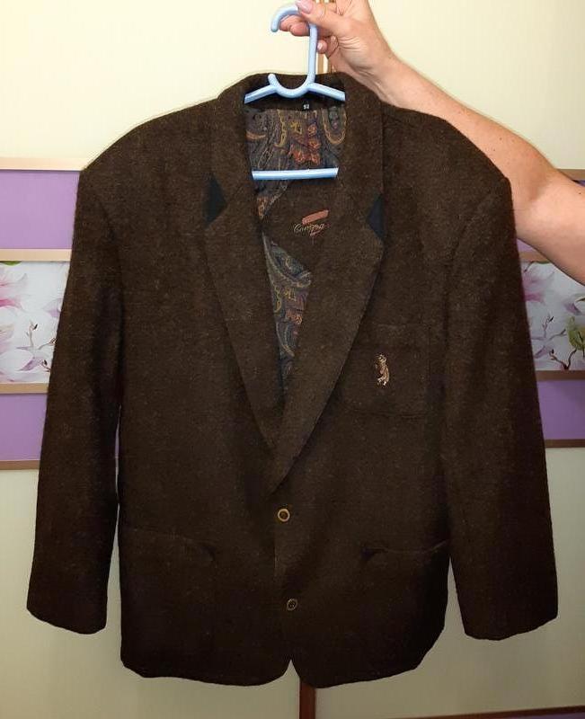 🎁1+1=3 шикарный шерстяной плотный пиджак из 100% шерсти marzo ...