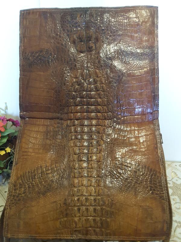 Сумка-папка из натуральной кожи крокодила - Фото 9