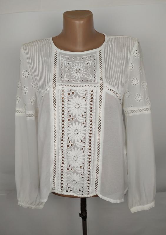Блуза белая шикарная miss selfridge uk 12/40/m