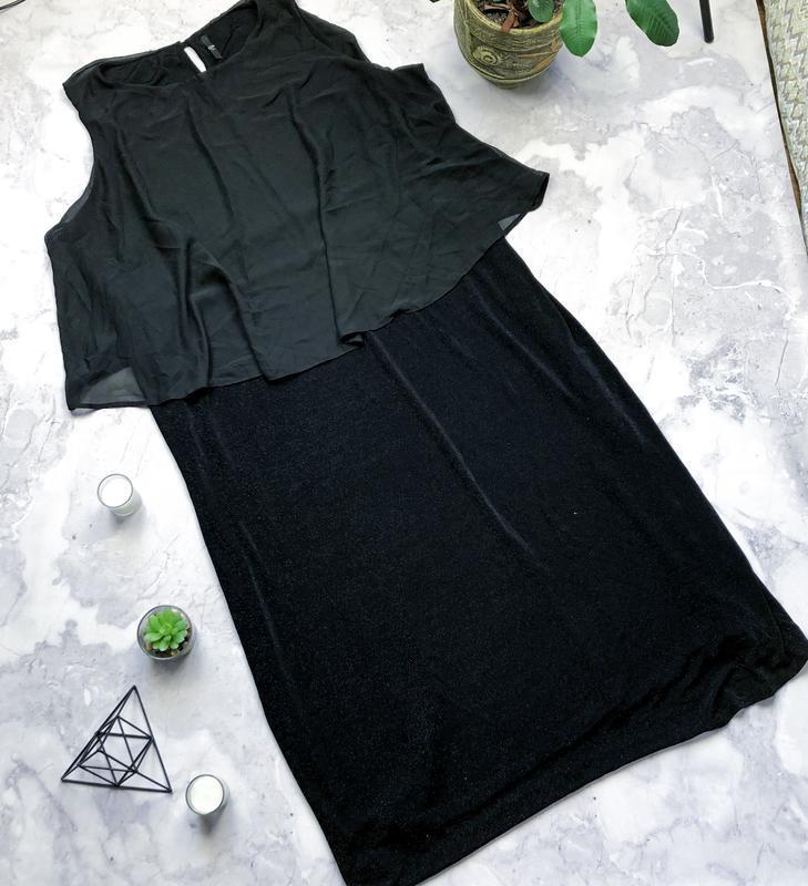 Крутое длинное вечернее платье с люрексом большого размера bon...