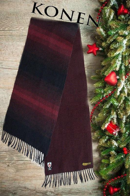💨❄konen 100% шерсть теплый мужской шарф двусторонний германия 💨❄💨