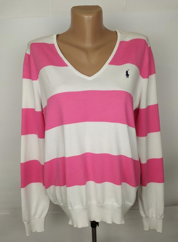 Джемпер кофта пуловер хлопковая модная в полоску оригинал ralp...