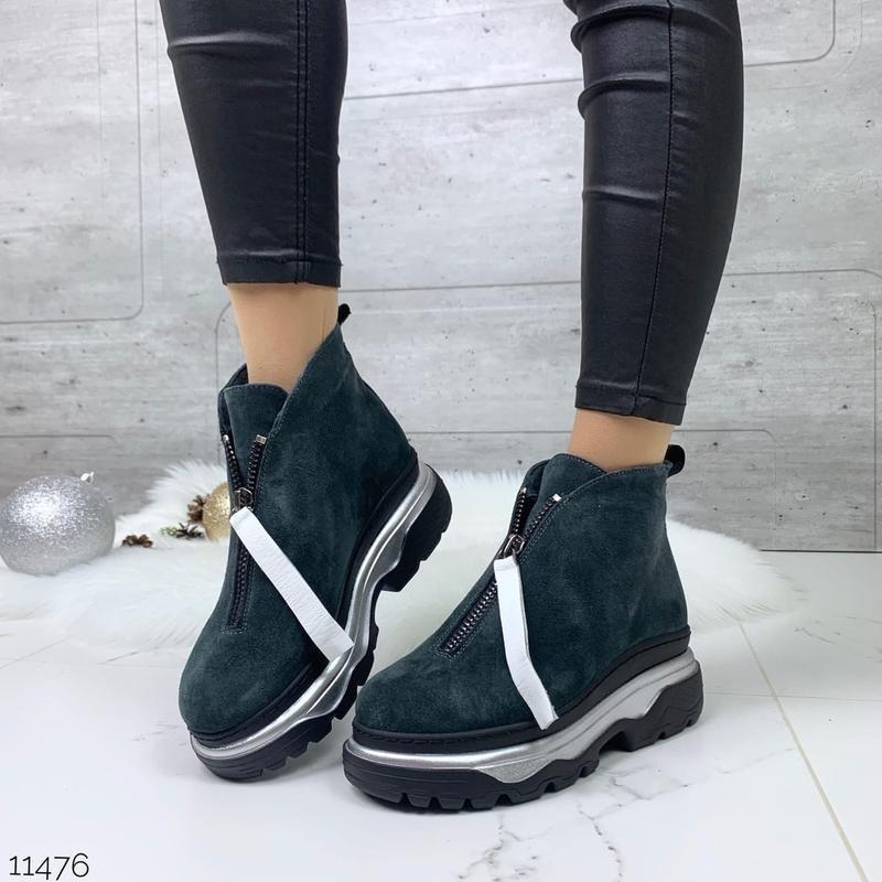 ❤ женские  зимние замшевые ботинки сапоги полусапожки ботильон...