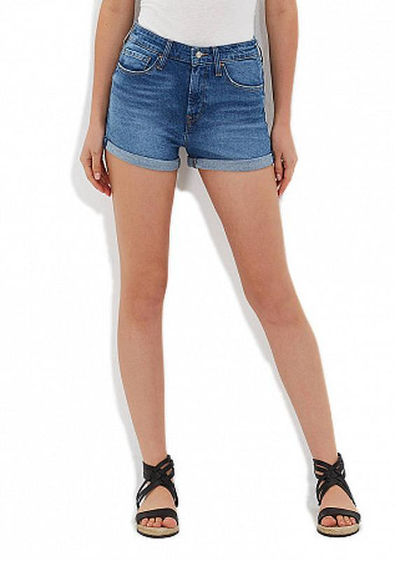 🔥🔥🔥стильные короткие джинсовые шорты e-vie🔥🔥🔥