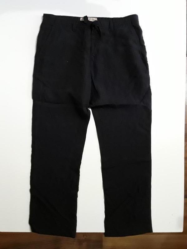 Фирменные льняные брюки штаны 38р.