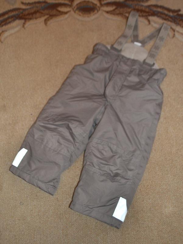 Термо брюки,полукомбинезон h&m р. 1.5-2 года 92 см германия