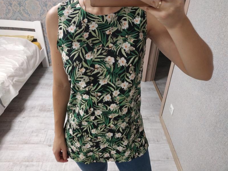 Красивая блуза топ в цветы вискоза