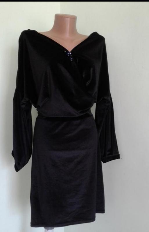 Платье бархатное, платье черное/ boohoo