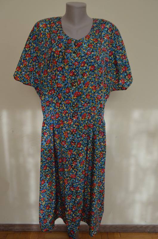 Шикарное стильное французское платье на пуговицах большого раз...