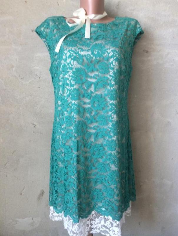 Платье ажурнте,платье миди/италия