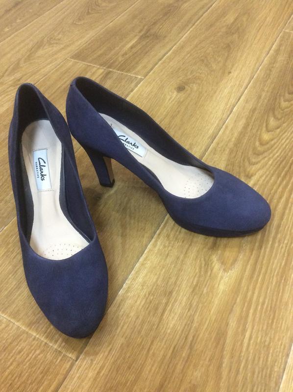 Туфли темно-синие замшевые новые