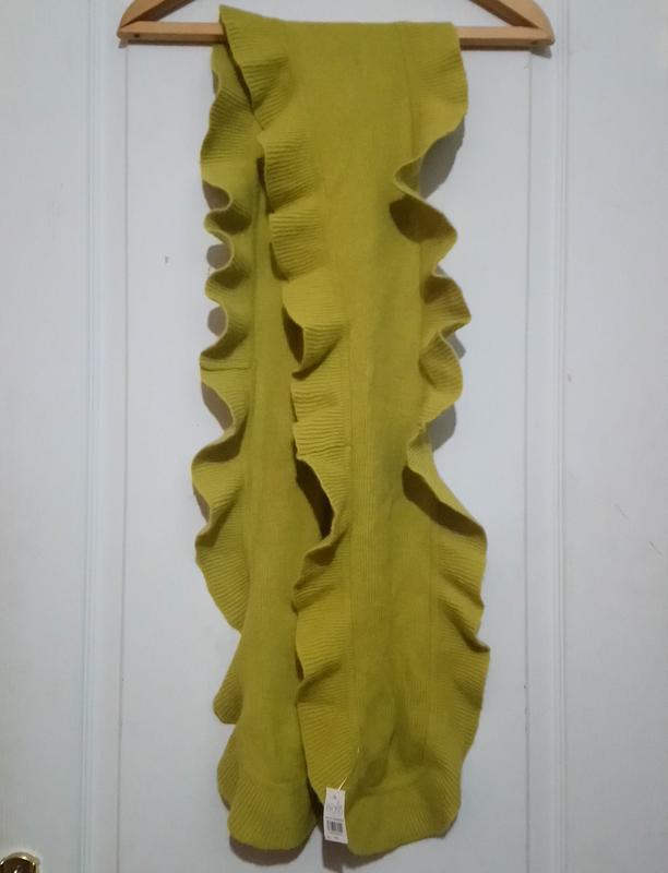 Теплый шерстяной шарф . с бирками
