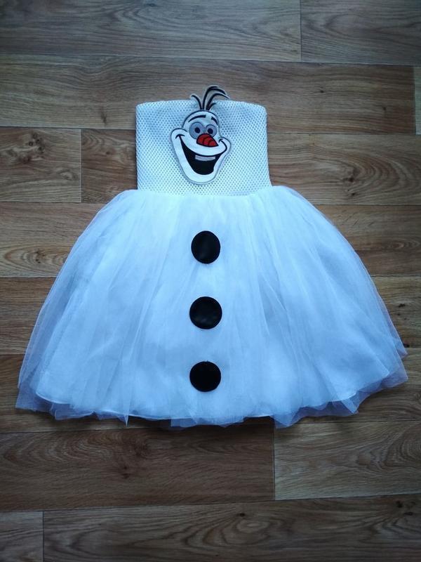 Платье снеговик