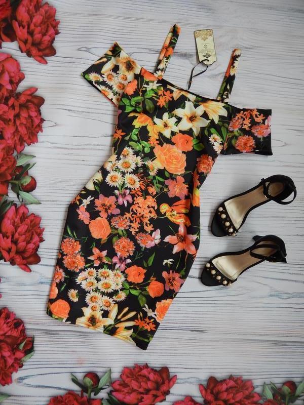 🌿милое,  красивое платье в цветочный принт. размер м-l.