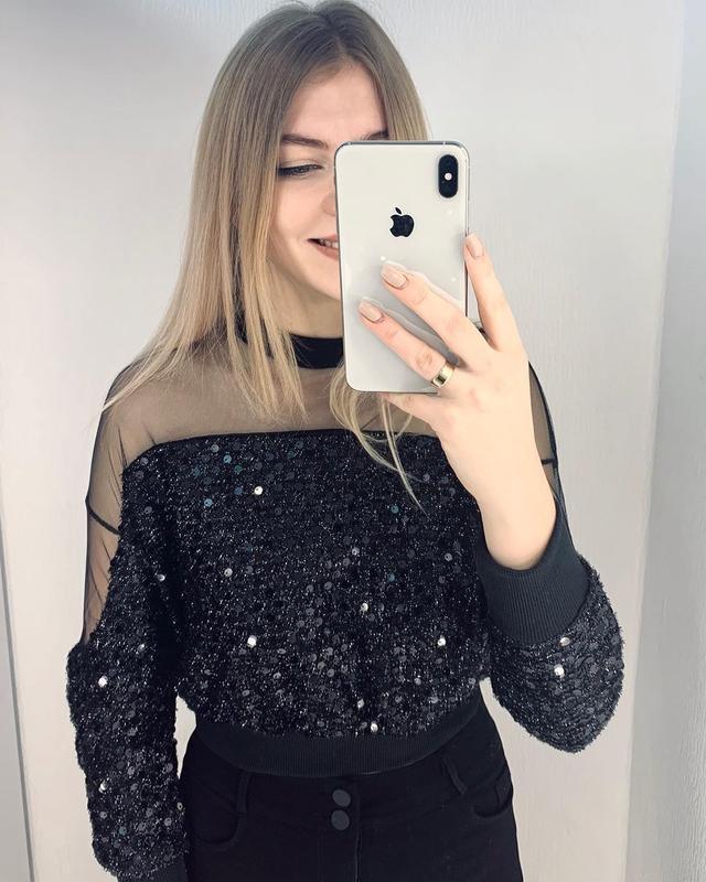 Нарядная блуза, блуза с пайетками на новый год
