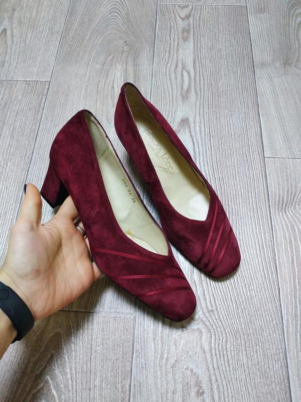 Замшевые туфли из натуральной замши качественные
