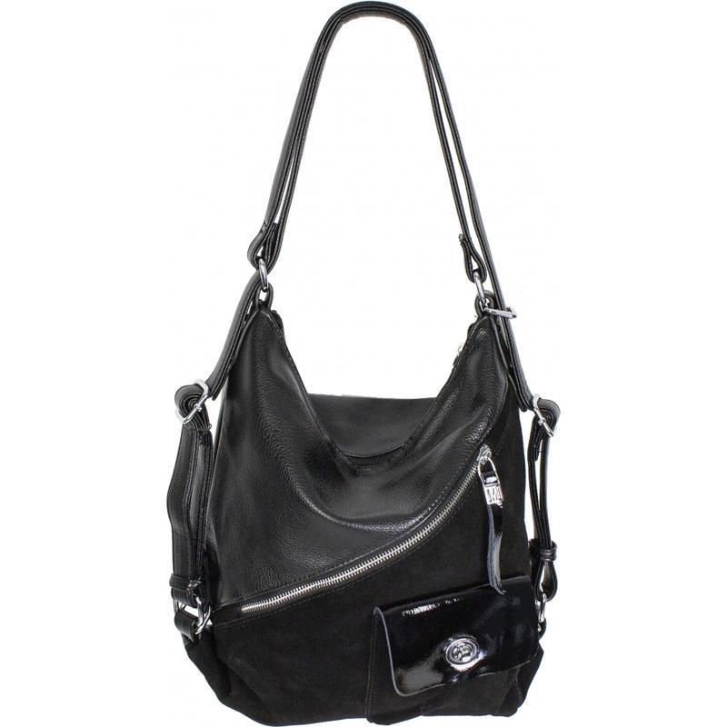 Сумка рюкзак замш + экокожа