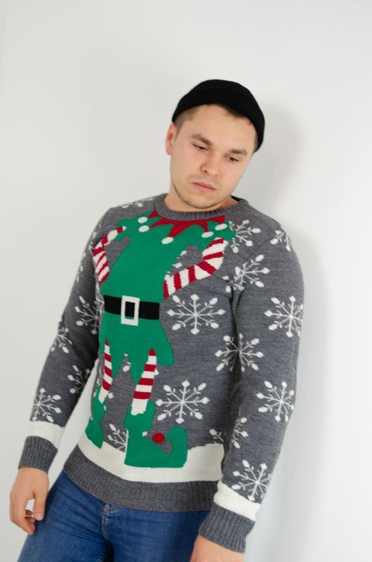 Boohoo man новогодний свитер, праздничная кофта, джемпер к нов...