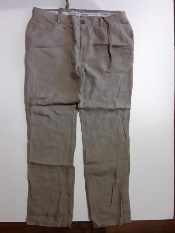 Фирменные льняные брюки штаны 38р