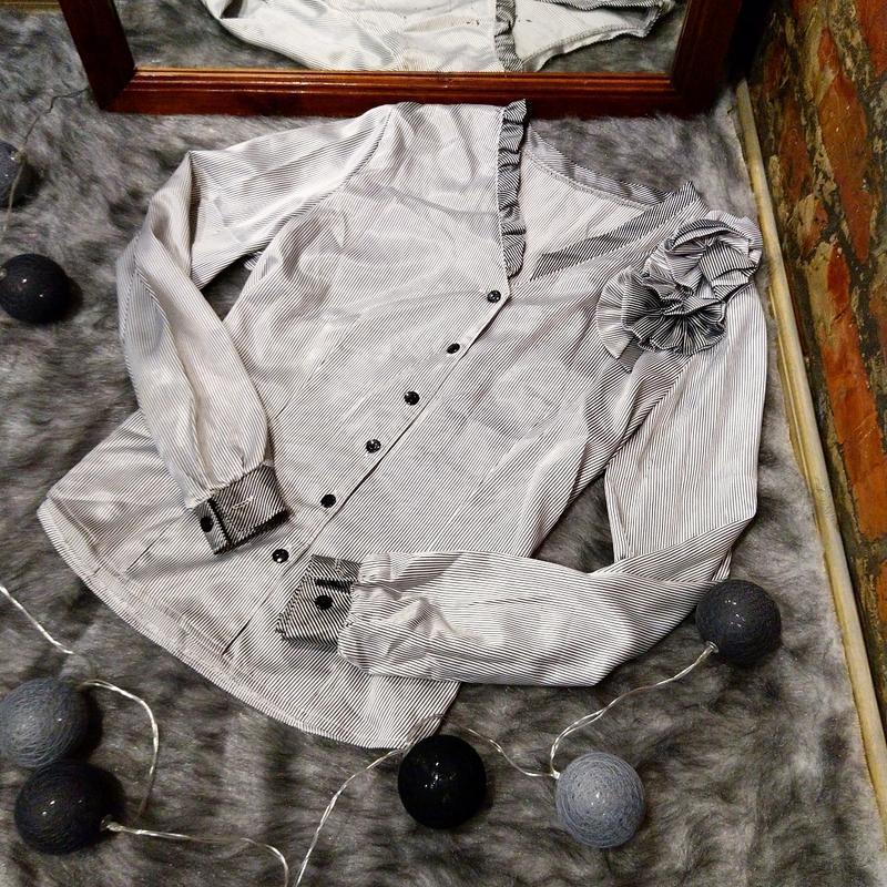 Блузка кофточка в трендовую полоску