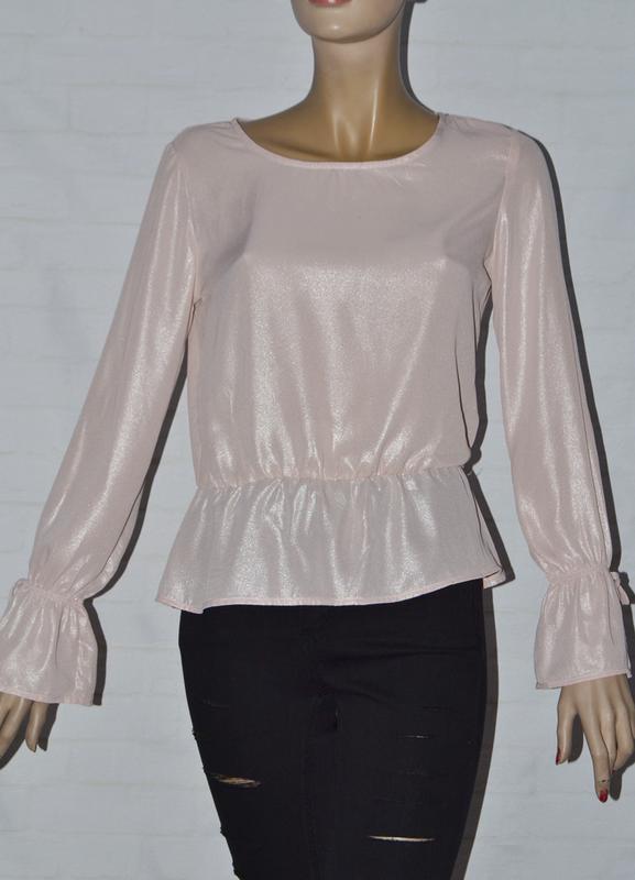 Нежная женская блуза с переливом с длинным рукавом