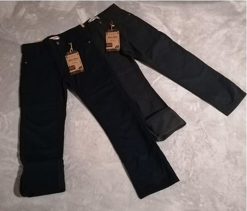 Котоновые брюки на флисе от бренда glass bear