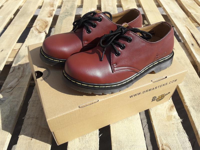 Туфли кожаные dr. martens 1461 red