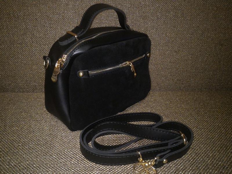 Женская сумка замша-кожщаи, клатч