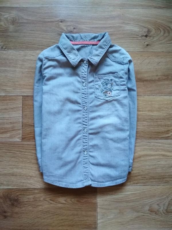 Рубашка джинсовая с вишивкой