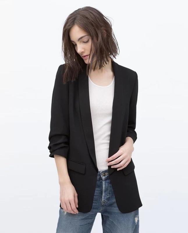 Шикарный удлиненный пиджак блейзер от zara