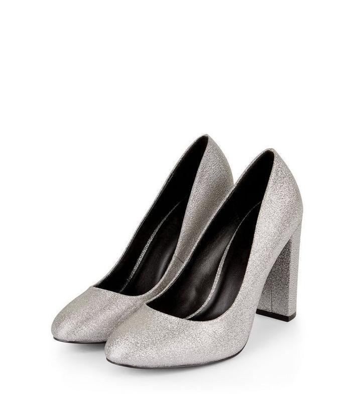 Нарядные блестящие туфли на широкую ножку блочный каблук 39 ра...