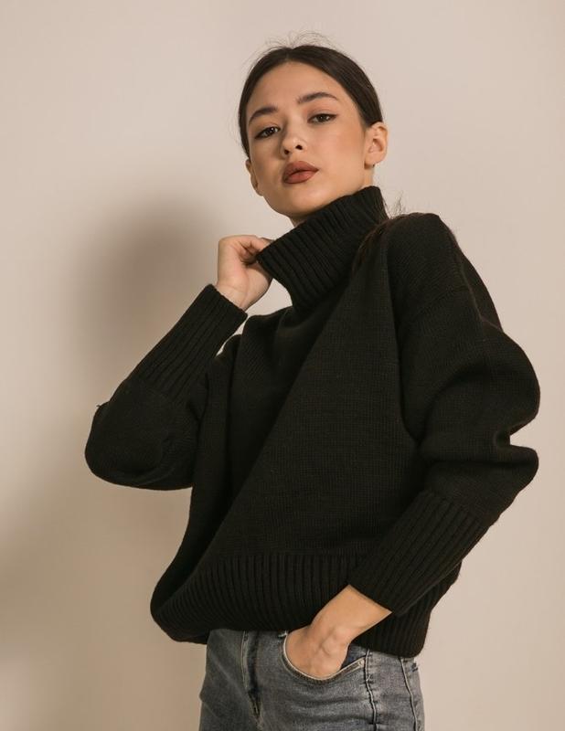 Теплый свитер оверсайз шерсть