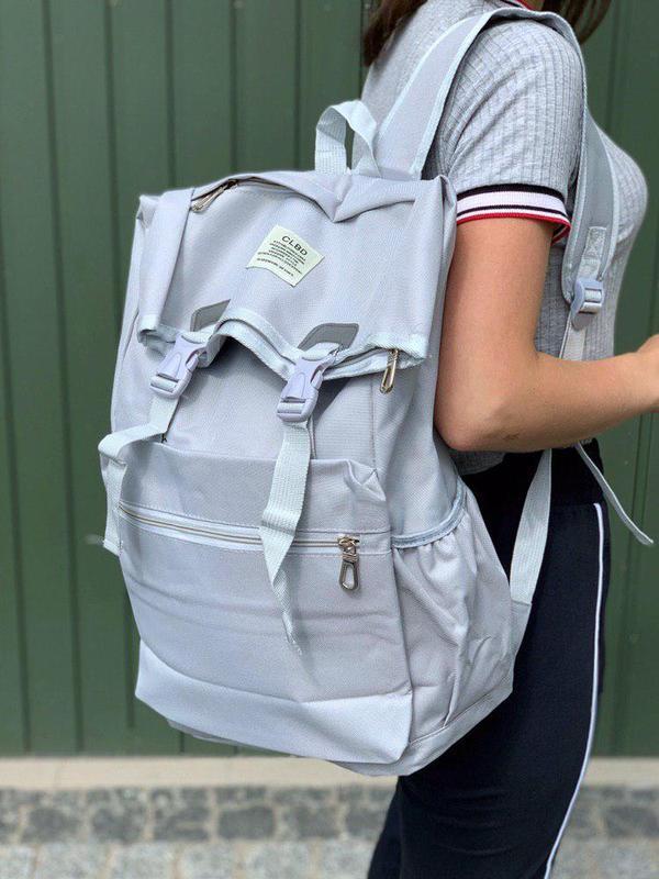 Удобный и вместительный рюкзак ролл clbd в сером цвете😍