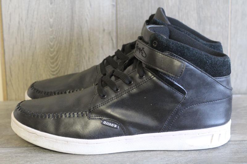 Утепленные кожаные ботинки djins 46