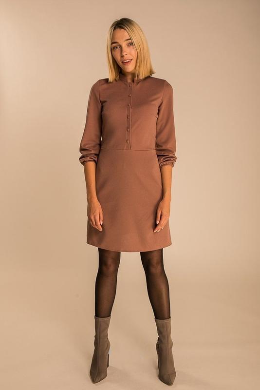 Элегантное платье трапеция