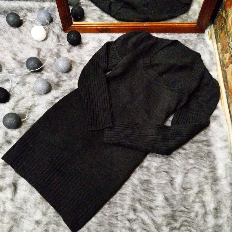Базовое платье свитер