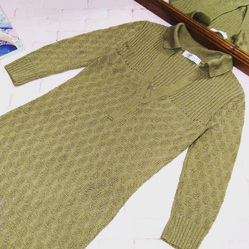 Вязаное платье свитер поло topshop - Фото 2