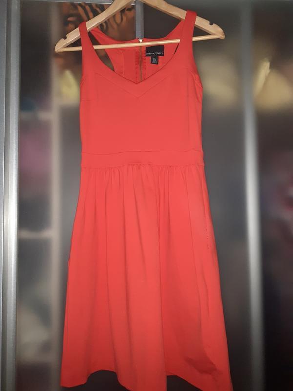 Коктельное дизайнерское платье с карманами  cynthia rowley