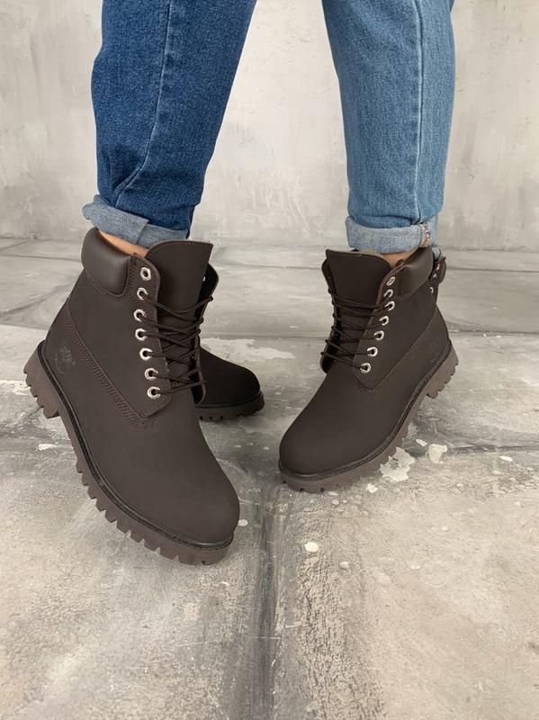 Зимние женские ботинки timberland brown