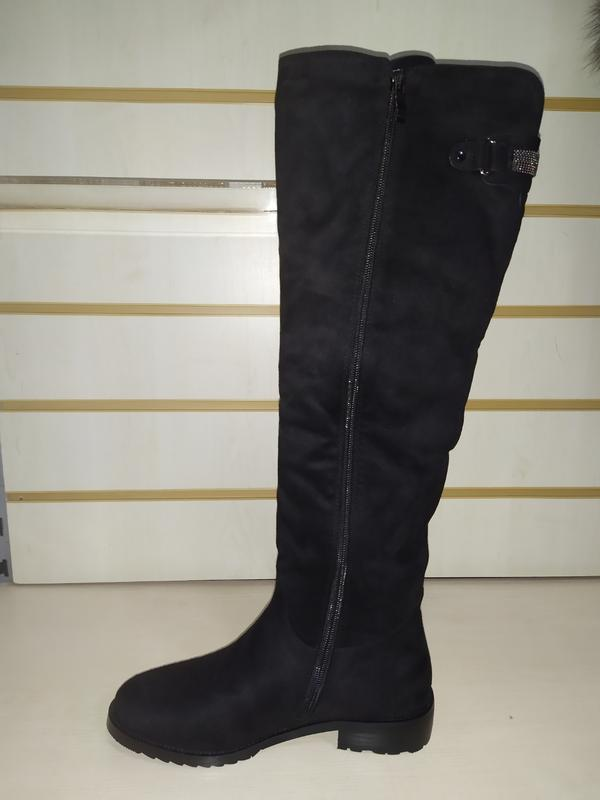 Зимние высокие сапожки женские зима сапоги жіночі чоботи зимові - Фото 3