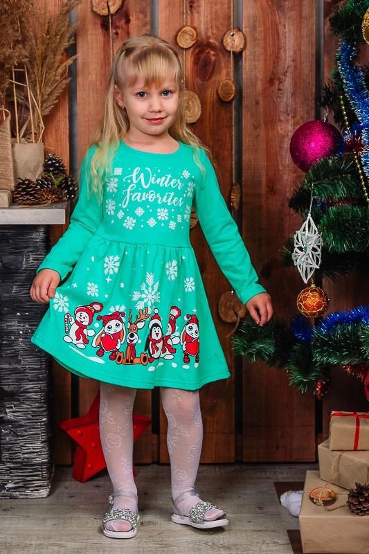 Яркое платье к новогодним праздникам для девочек