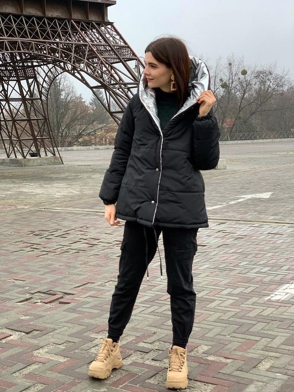 Космическая двустороння зимняя куртка