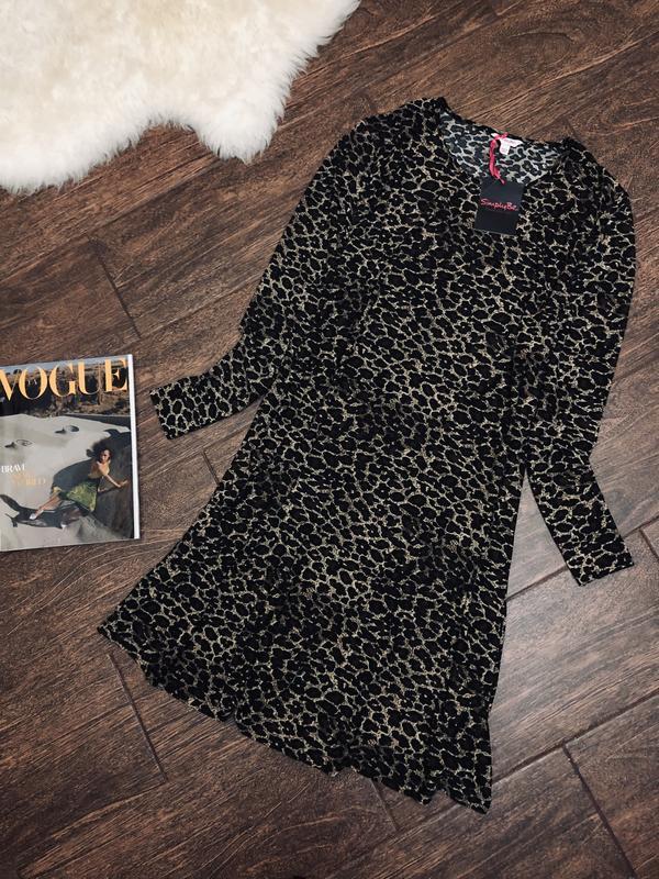 Красивое леопардовое платье большого размера