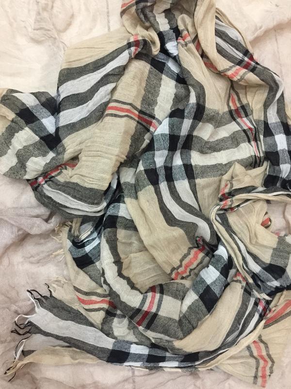 Большой шарф стиль burberry