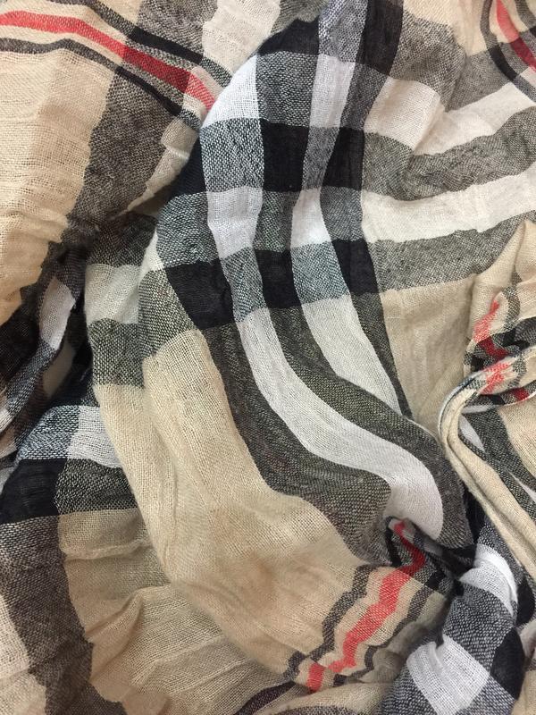Большой шарф стиль burberry - Фото 2